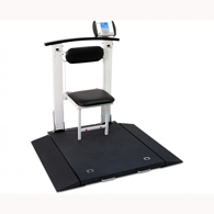 Detecto 6570 Multi-Purpose Clinical Portable Scale w/ Handrail & Seat